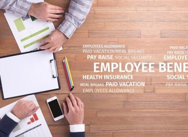 Business Concept: Employee Benefits Word Cloud